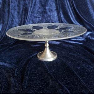Crystal Pedestal Cake Cupcake Stand